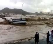 Floods in the city of abha Saudi Arabia may Allah protect Us